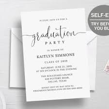 Graduation Announcements Template Graduation Announcement Template Etsy
