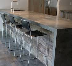 Pouring concrete counter tops Cement More Poured Concrete Counters And Look At That Reclaimed Wood Facade Unitedglobalcargoinfo More Poured Concrete Counters And Look At That Reclaimed Wood