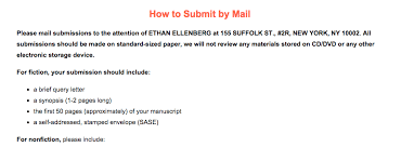 ethan ellenberg literary agency cover letter for poetry submission