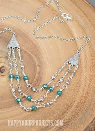 diy necklace ideas triple strand crystal pewter diy necklace easy handmade necklaces with