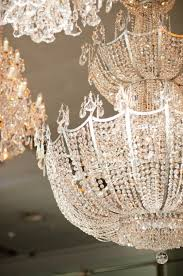 everything sparkles under a chandelier