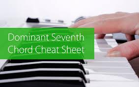 Week 8 Dominant Seventh Chord Cheat Sheet Hear And Play