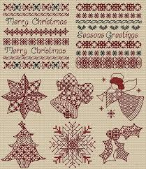 Blackwork Cross Stitch Charts Maria Diaz Designs Blackwork Christmas Cross Stitch Chart