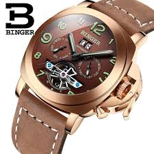 swiss automatic watches for men online shopping the world largest swiss famous brand watches men automatic mechanical watch luxury style leather strap hollow tourbillon design binger b 1170 3bar
