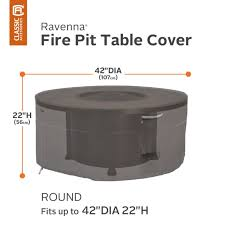 the new ravenna series 42 inch round fire pit table cover for round firepit tables combine a striking style with durability fade resistance and convenient