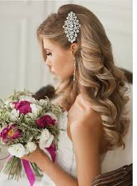 down wedding hair. Wedding Hairstyles that are Right on Trend Headpieces Pinterest
