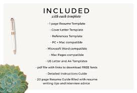 Resume Template Cv Mallory Resume Templates Creative Market