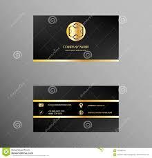 Visiting Card Design Black And Gold Set Of Business Card Design Golden Black Color Majestic