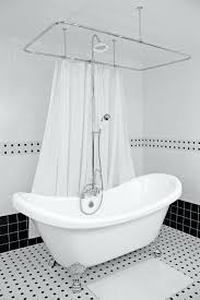hotel collection double slipper tub and claw tub shower clawfoot bathtub shower conversion kit