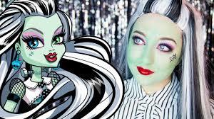 monster high frankie stein makeup tutorial