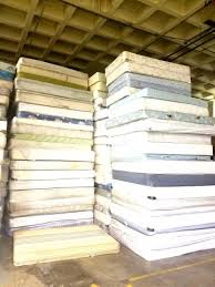 stack of mattresses. Stack Of Mattresses Ready To Be Disassembled And Recycled N