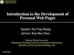 Introduction To The Development Of Personal Web Pages Ppt Download