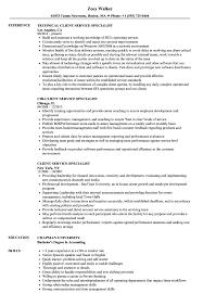 Client Service Specialist Resume Samples Velvet Jobs