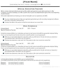 Objectives For Resumes For Teachers Elementary Teacher Resume ...