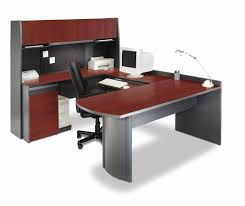 futuristic office desk. Impressive Red And Grey Futuristic Office Desk That Can Be Applied On The White Modern Ceramics