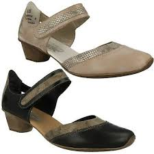 Rieker Size Chart Us Ladies Rieker Leather Casual Mary Jane Smart Heeled Court Shoes 49780 Size Ebay