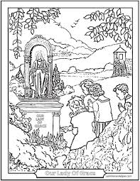 It develops fine motor skills, thinking, and fantasy. 150 Catholic Coloring Pages Sacraments Rosary Saints
