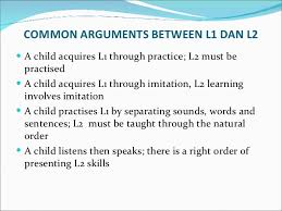 L1 And L2 Elt Methodology Differences Bet L1 And L2