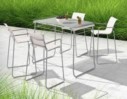 gray patio furniture. Modern Batyline And Chrome Patio Bar Table Set Gray Furniture G