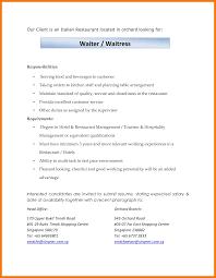 Waitress Responsibilities Resume Samples Waitress Duties Resume Savebtsaco 12