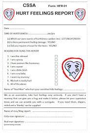 hurt feelings report form cree tees hurt feelings report