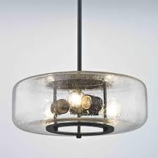 lighting pendants glass. Industrial Seeded Glass Pendant Light With 3 Lights Bronze Finish Lighting Pendants