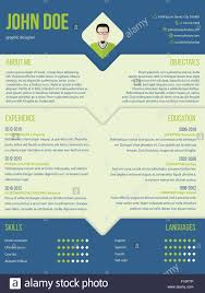Modern Curriculum Cv Resume Template Design In Blue And Green