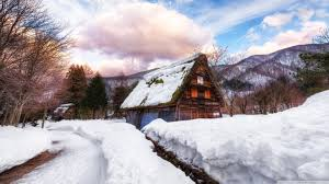 Village In Japan During Winter Ultra Hd Desktop Background