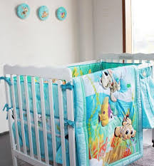 new embroidered ocean animals baby crib bedding set for boy baby