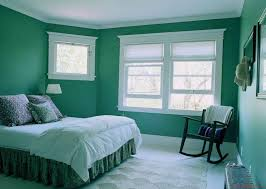 green wall paintbedroom  Green Wall Paint Color White Wooden Bed Frame Wooden