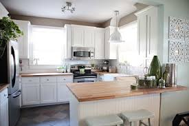 White Country Kitchen With Butcher Block cumberlanddemsus