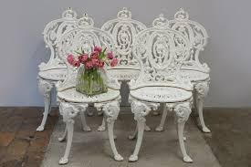 victorian cast iron garden chairs from