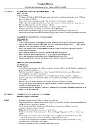 Promotions Coordinator Resume Samples Velvet Jobs
