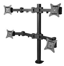 articulating quad monitor desk mount 13 to 27 grommet mount
