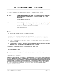 Property Management Agreement Template Word Pdf By Business In