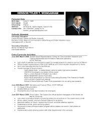 resume layout examples free resume sample for college students