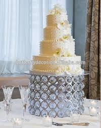 1 Tingkat Putaran Besi Kristal Kue Berdiripartai Wedding Cake