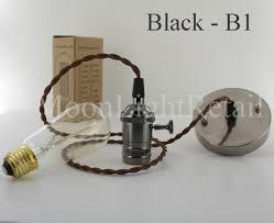 industrial edison vintage pendant light lamp fabric cord