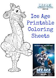 Small Picture Ice Age Collision Course Printable Coloring Sheets Jinxy Kids