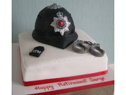 police helmet cake for jeff of st annes to celebrate his retirement from the police