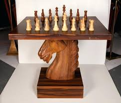 chess coffee table large sculpture chess set