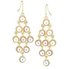 gold and pearl chandelier earrings white gold pearl chandelier earrings image inspirations