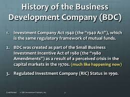 Business Development Company What Is A Business Development Company Bdc