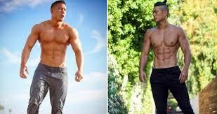 Mature asain skinny muscle