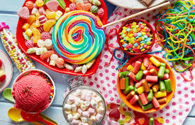 A Close Up Of Assorted, Colourful Kids Party Sweets And Candy.. Stock  Photo, Picture And Royalty Free Image. Image 86560737.