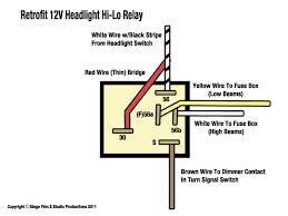 automotive relay wiring diagram & automotive electric fans 12V Starter Relay Wiring Diagram wiring retrofit 12v headlight hi lo relay 12 volt relay wiring diagram automotive relay wiring