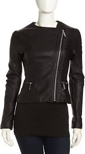 betsey johnson asymmetric cropped faux leather moto jacket black