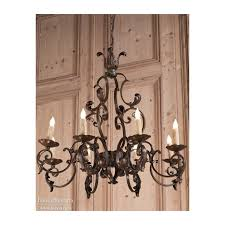 antique country french wrought iron chandelier inessa stewarts country french chandeliers iron