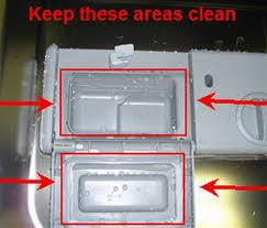 keep the dishwasher detergent dispenser clean