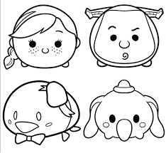Disney Tsum Tsum Coloring Pages Coloring Pages